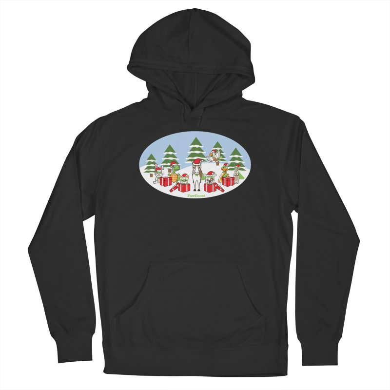 Rescue Squad Presents (winter wonderland) Men's French Terry Pullover Hoody by PawBoost's Shop