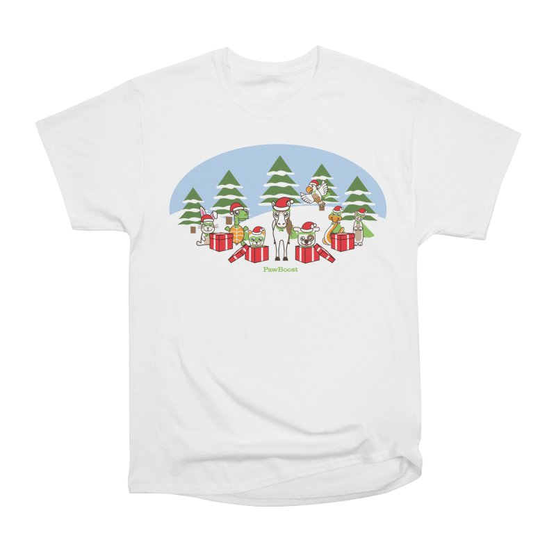 Rescue Squad Presents (winter wonderland) Men's Heavyweight T-Shirt by PawBoost's Shop