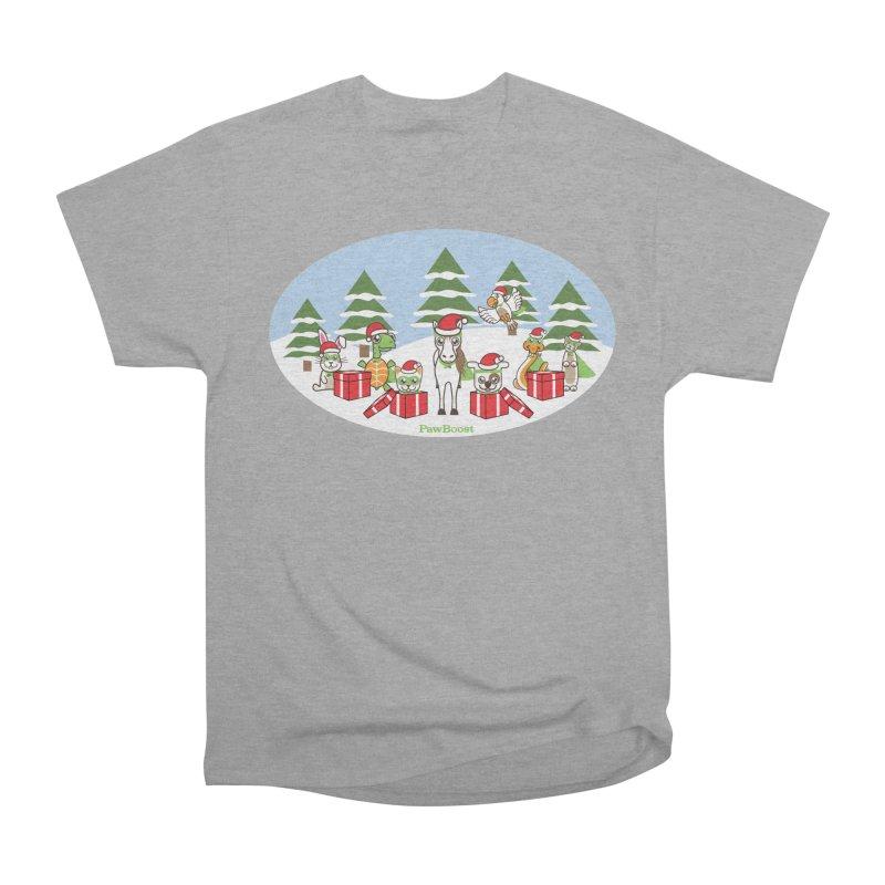Rescue Squad Presents (winter wonderland) Men's Heavyweight T-Shirt by PawBoost's Shop