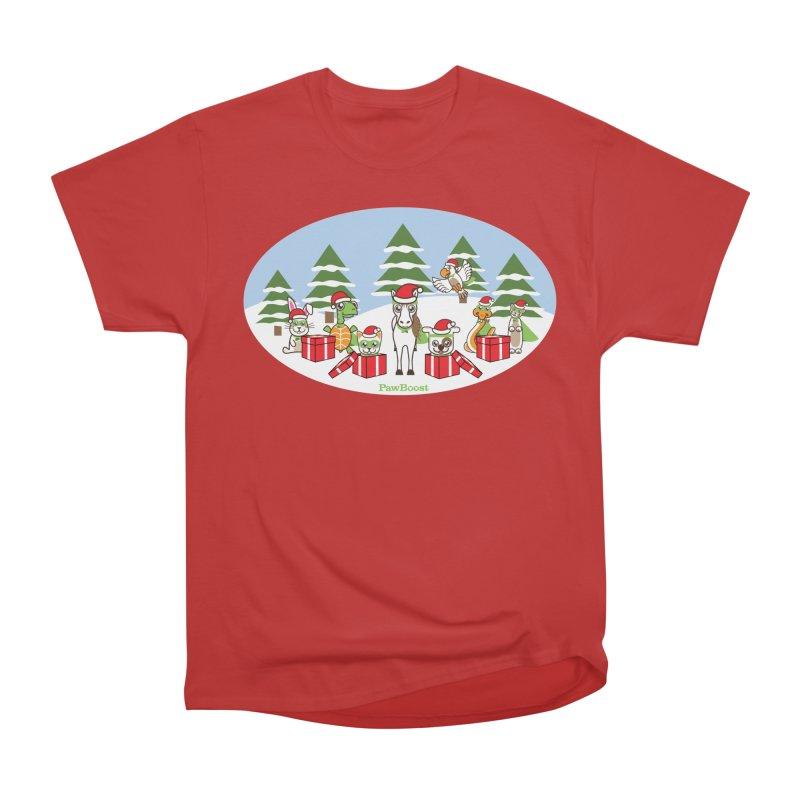 Rescue Squad Presents (winter wonderland) Women's Heavyweight Unisex T-Shirt by PawBoost's Shop