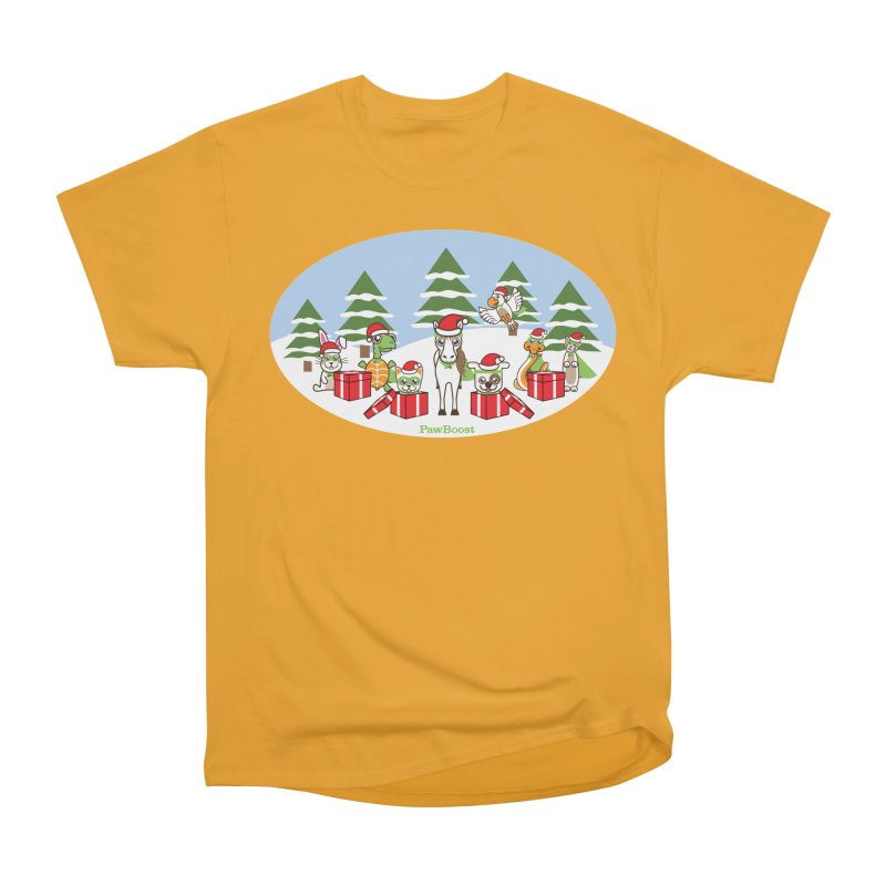 Rescue Squad Presents (winter wonderland) Women's Heavyweight Unisex T-Shirt by PawBoost's Shop