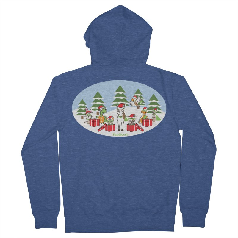 Rescue Squad Presents (winter wonderland) Women's French Terry Zip-Up Hoody by PawBoost's Shop