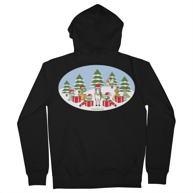 Rescue Squad Presents (winter wonderland) Men's French Terry Zip-Up Hoody by PawBoost's Shop