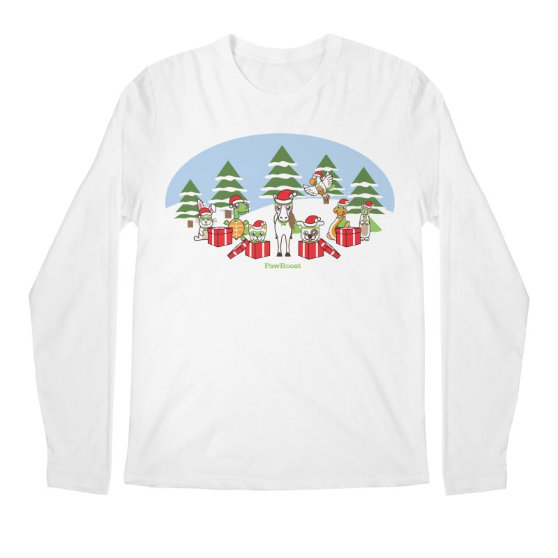 Rescue Squad Presents (winter wonderland) Men's Regular Longsleeve T-Shirt by PawBoost's Shop