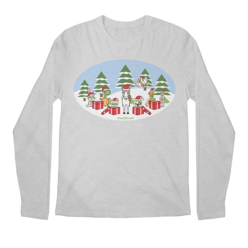Rescue Squad Presents (winter wonderland) Men's Regular Longsleeve T-Shirt by PawBoost's Shop