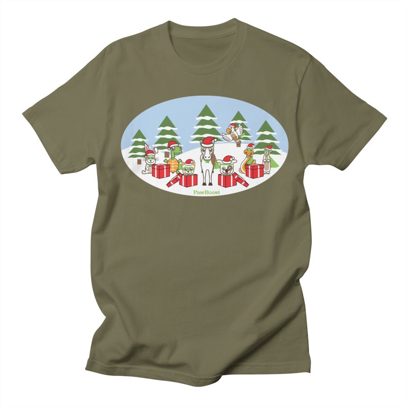 Rescue Squad Presents (winter wonderland) Men's Regular T-Shirt by PawBoost's Shop