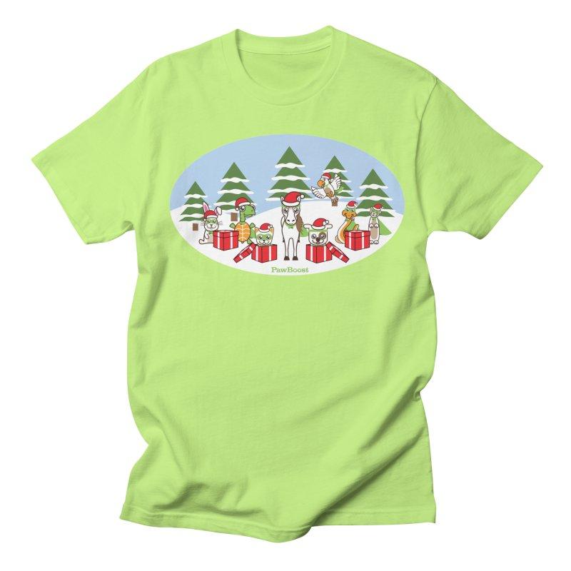 Rescue Squad Presents (winter wonderland) Men's Regular T-Shirt by PawBoost's Shop