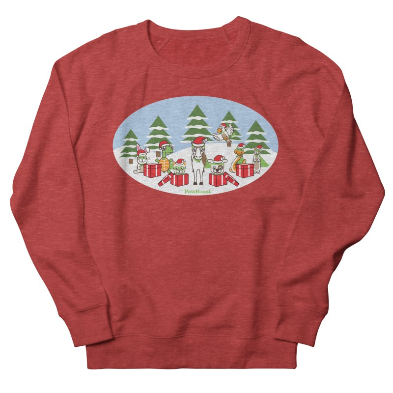 Rescue Squad Presents (winter wonderland) in Women's French Terry Sweatshirt Heather Red by PawBoost's Shop