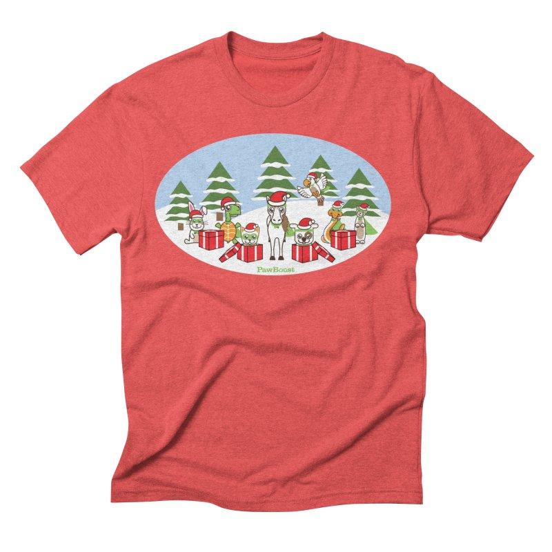 Rescue Squad Presents (winter wonderland) Men's Triblend T-Shirt by PawBoost's Shop
