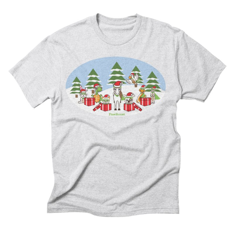 Rescue Squad Presents (winter wonderland) Men's Triblend T-Shirt by PawBoost's Shop