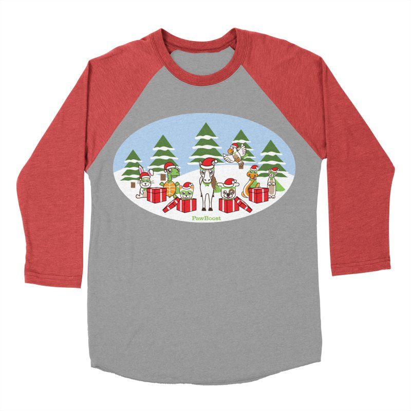 Rescue Squad Presents (winter wonderland) Women's Baseball Triblend Longsleeve T-Shirt by PawBoost's Shop