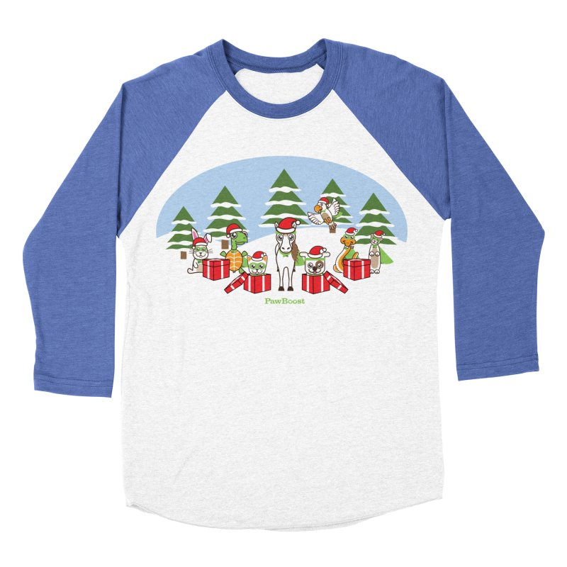 Rescue Squad Presents (winter wonderland) Men's Baseball Triblend Longsleeve T-Shirt by PawBoost's Shop