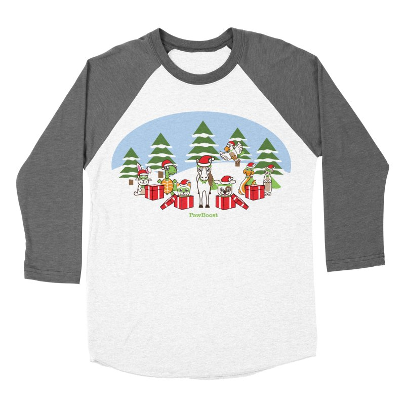 Rescue Squad Presents (winter wonderland) Men's Baseball Triblend Longsleeve T-Shirt by PawBoost's Shop