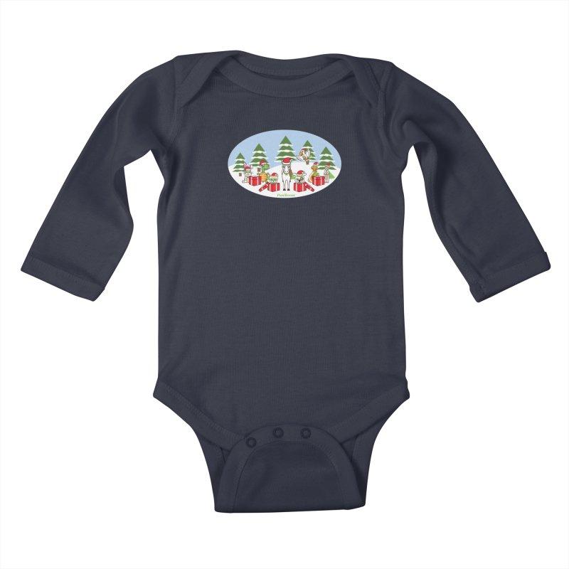 Rescue Squad Presents (winter wonderland) Kids Baby Longsleeve Bodysuit by PawBoost's Shop