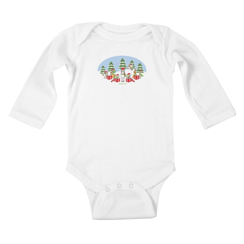Rescue Squad Presents (winter wonderland) Kids Baby Longsleeve Bodysuit by PawBoost's Shop