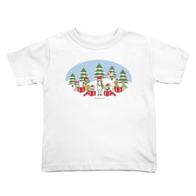 Rescue Squad Presents (winter wonderland) Kids Toddler T-Shirt by PawBoost's Shop