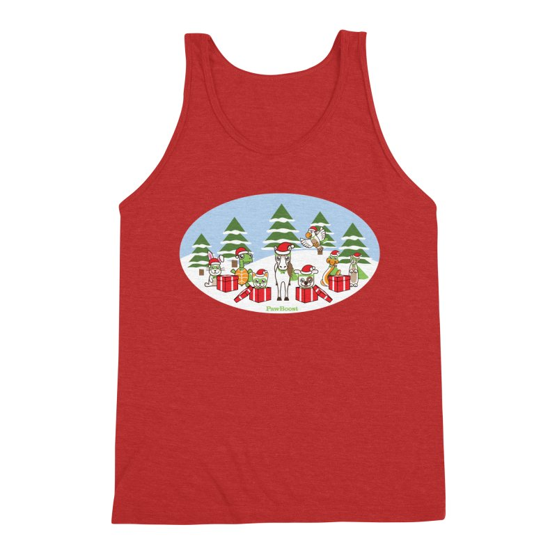 Rescue Squad Presents (winter wonderland) Men's Triblend Tank by PawBoost's Shop