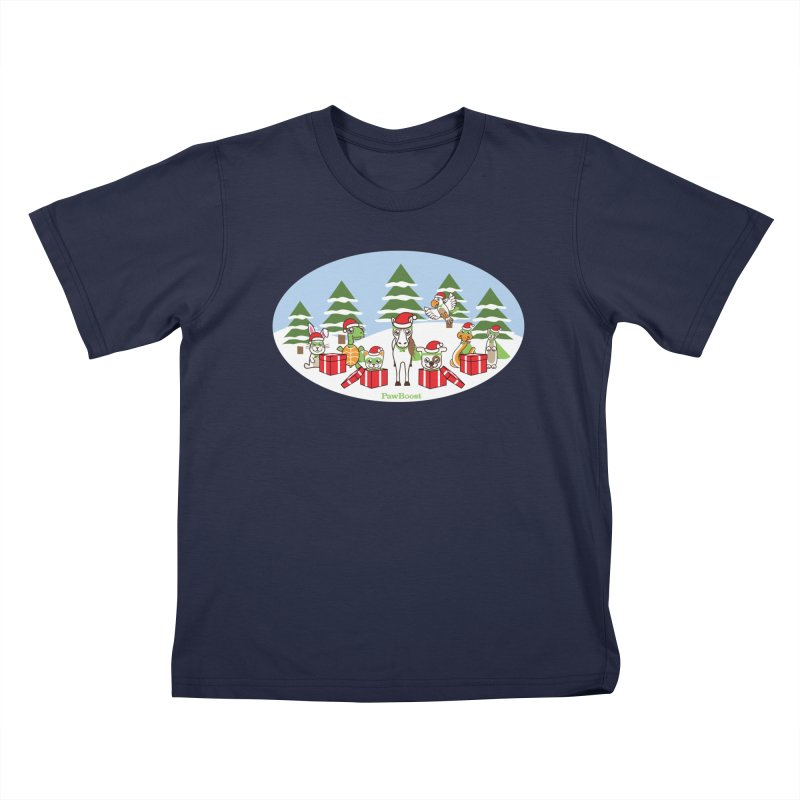 Rescue Squad Presents (winter wonderland) Kids T-Shirt by PawBoost's Shop