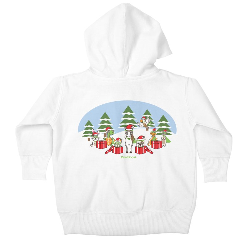 Rescue Squad Presents (winter wonderland) Kids Baby Zip-Up Hoody by PawBoost's Shop