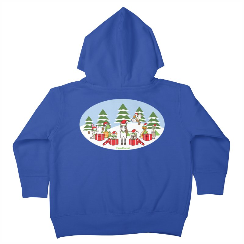Rescue Squad Presents (winter wonderland) Kids Toddler Zip-Up Hoody by PawBoost's Shop