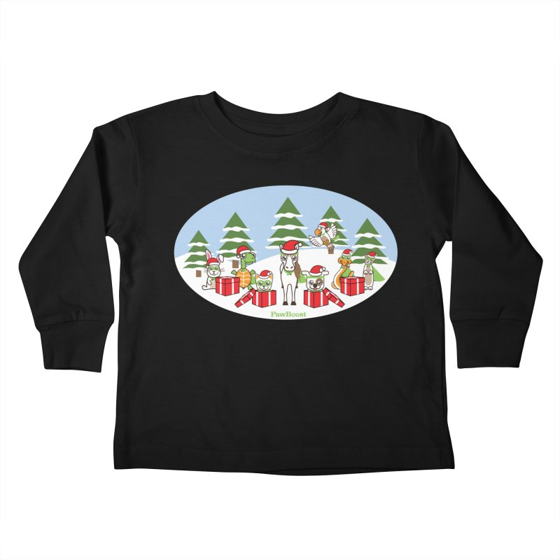 Rescue Squad Presents (winter wonderland) Kids Toddler Longsleeve T-Shirt by PawBoost's Shop