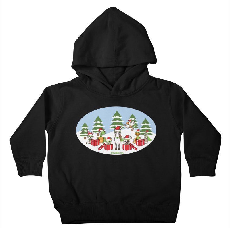 Rescue Squad Presents (winter wonderland) Kids Toddler Pullover Hoody by PawBoost's Shop