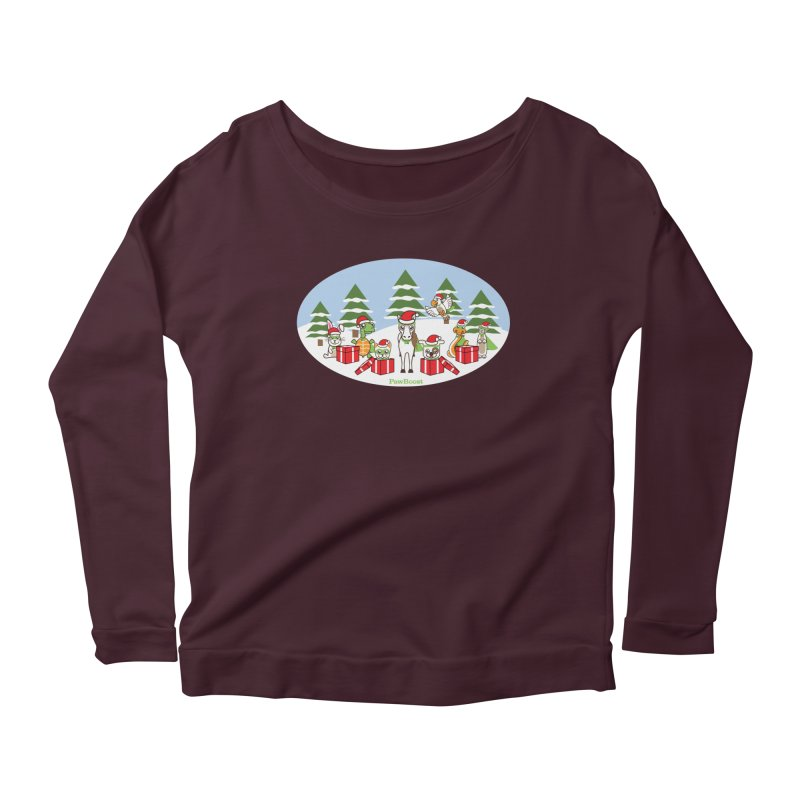 Rescue Squad Presents (winter wonderland) Women's Longsleeve T-Shirt by PawBoost's Shop