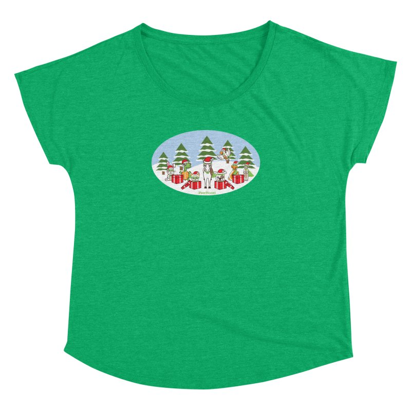 Rescue Squad Presents (winter wonderland) Women's Dolman Scoop Neck by PawBoost's Shop