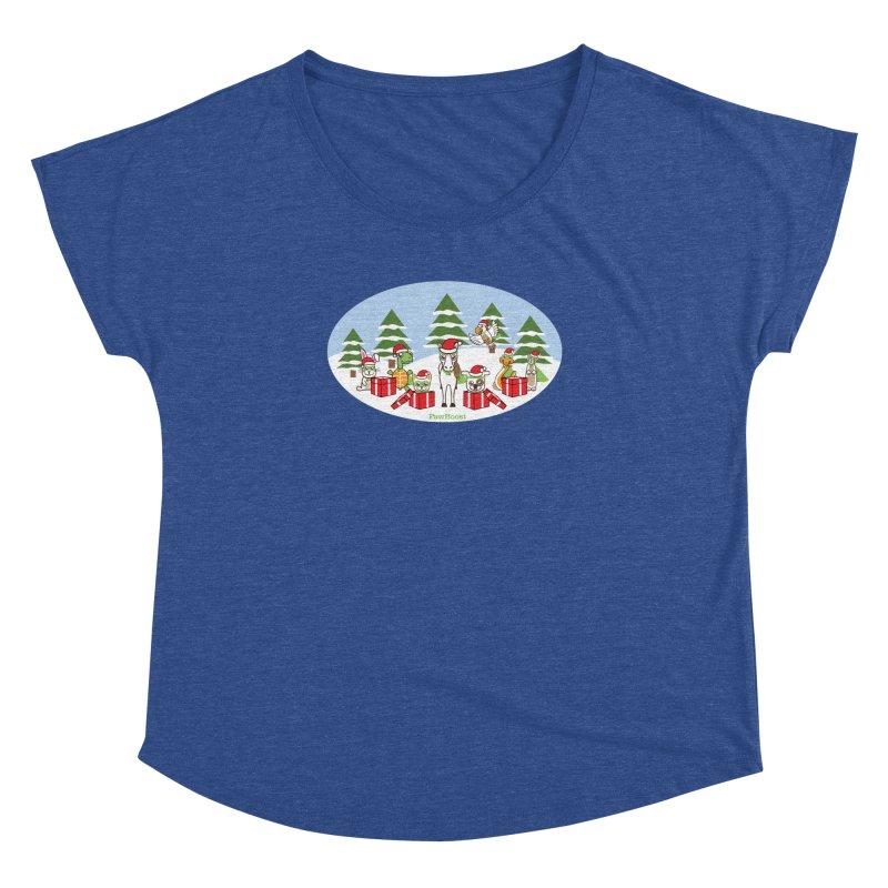 Rescue Squad Presents (winter wonderland) Women's Dolman Scoop Neck by PawBoost's Shop