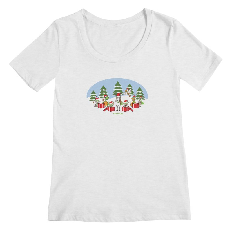 Rescue Squad Presents (winter wonderland) Women's Regular Scoop Neck by PawBoost's Shop