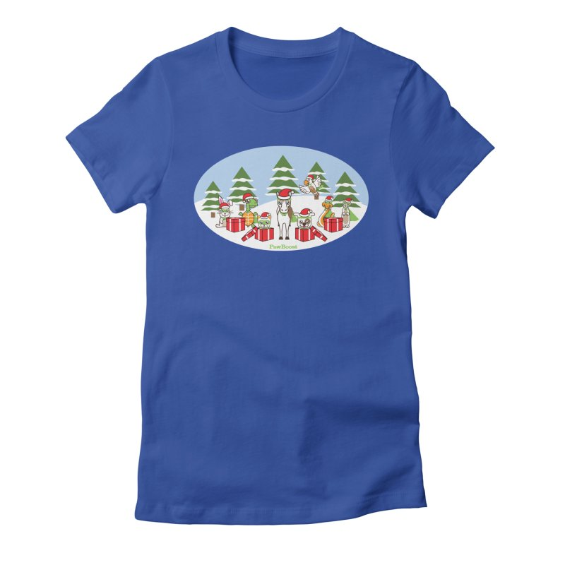 Rescue Squad Presents (winter wonderland) Women's Fitted T-Shirt by PawBoost's Shop