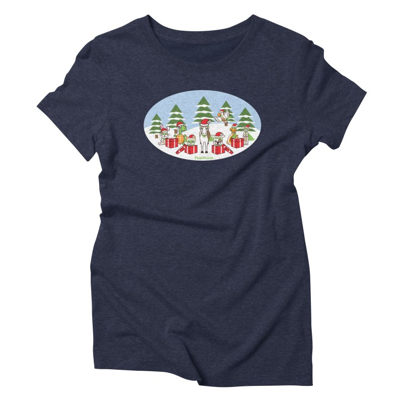Rescue Squad Presents (winter wonderland) Women's Triblend T-Shirt by PawBoost's Shop