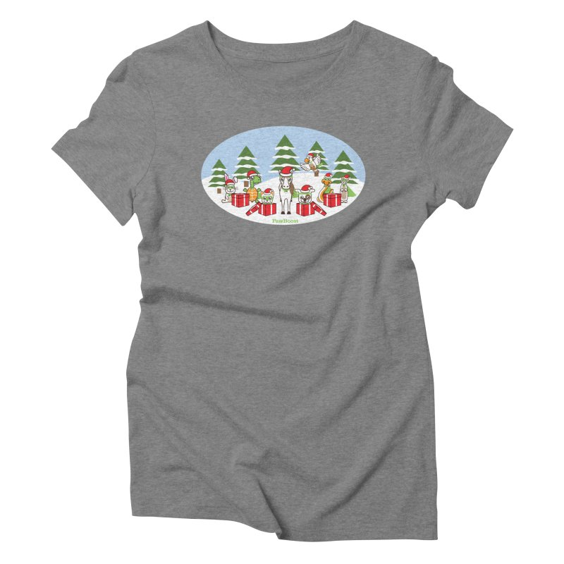 Rescue Squad Presents (winter wonderland) Women's Triblend T-Shirt by PawBoost's Shop