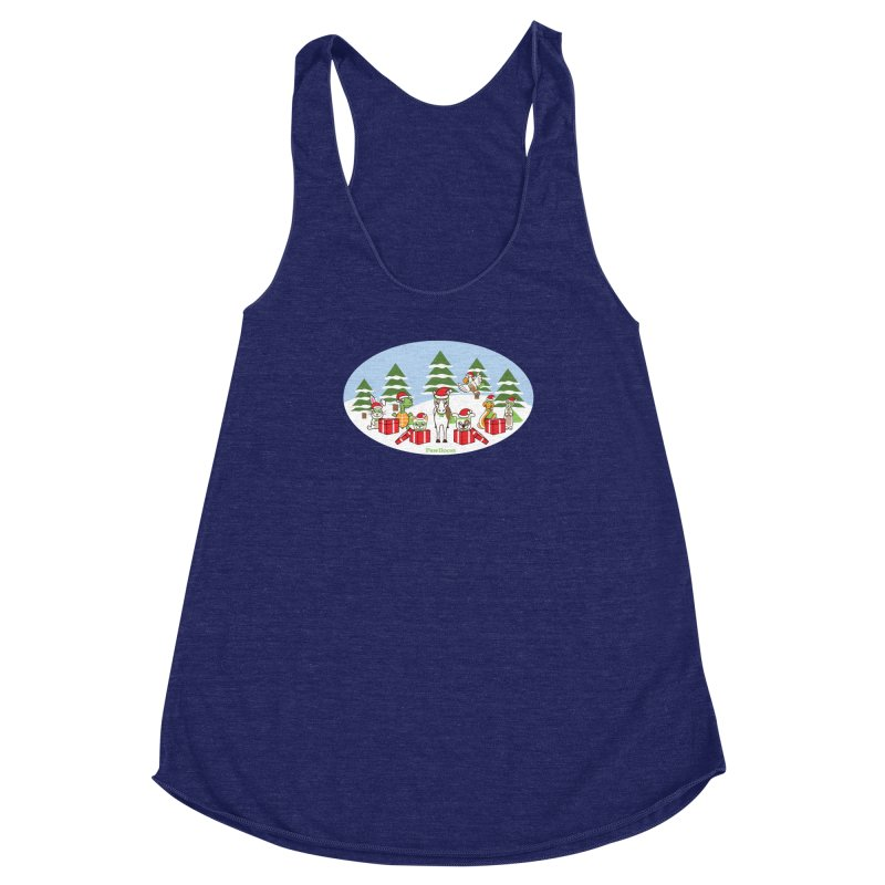 Rescue Squad Presents (winter wonderland) Women's Racerback Triblend Tank by PawBoost's Shop
