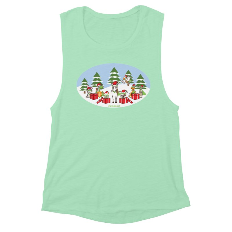 Rescue Squad Presents (winter wonderland) Women's Muscle Tank by PawBoost's Shop