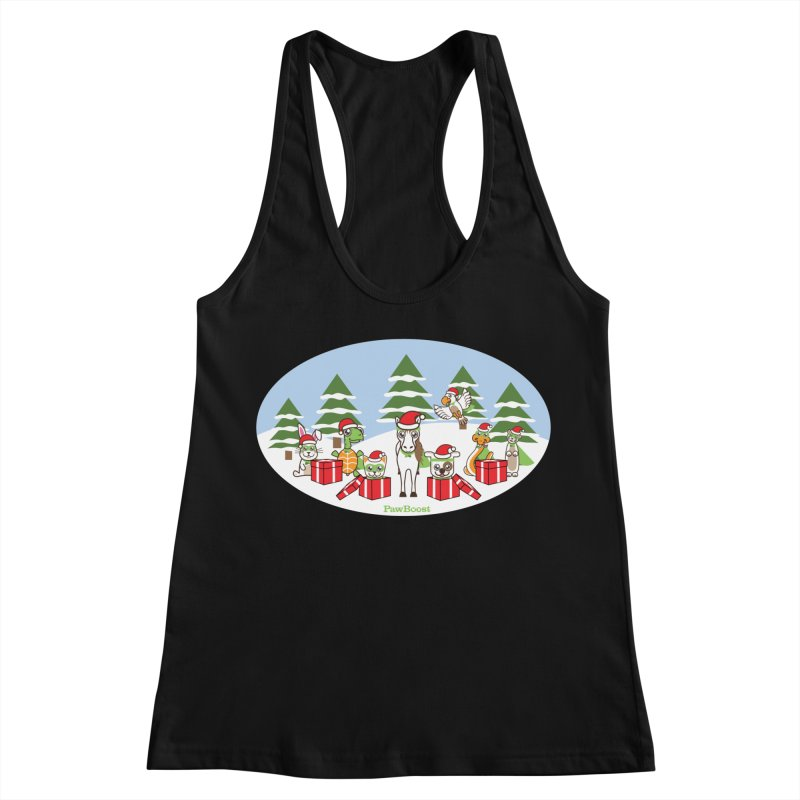 Rescue Squad Presents (winter wonderland) Women's Racerback Tank by PawBoost's Shop