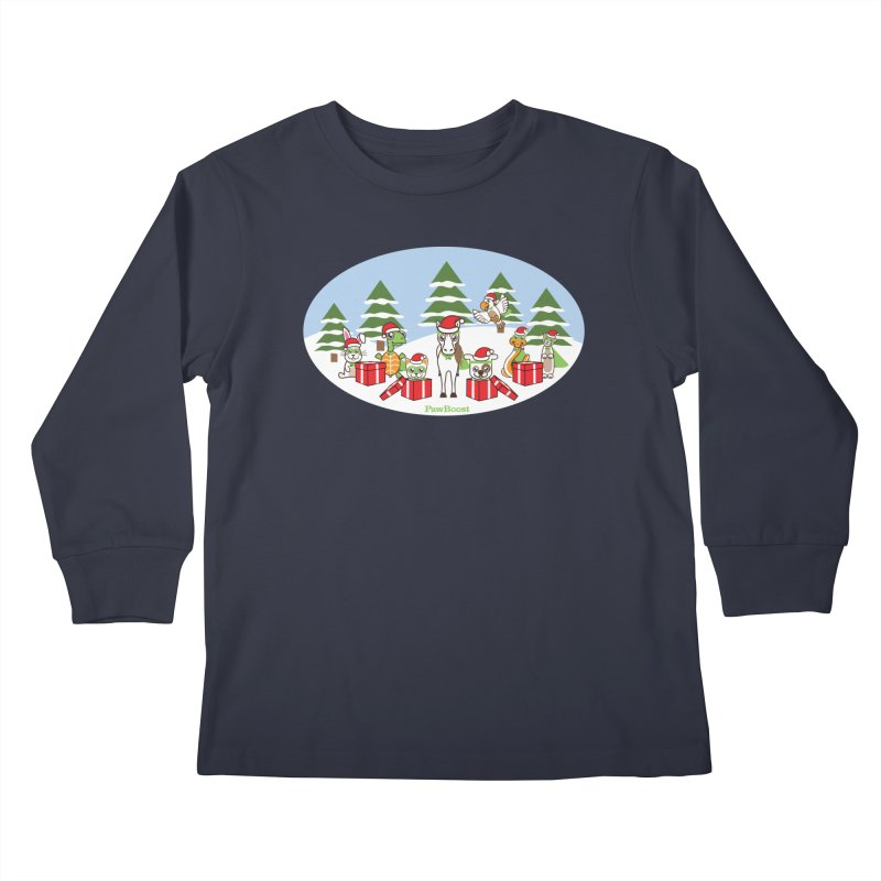 Rescue Squad Presents (winter wonderland) Kids Longsleeve T-Shirt by PawBoost's Shop