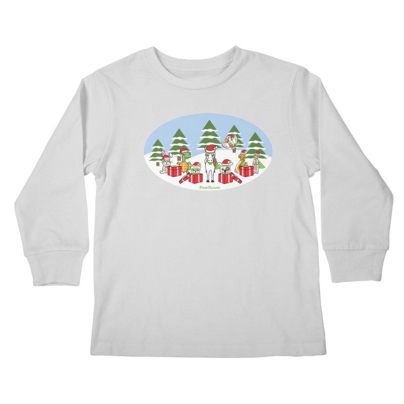 Rescue Squad Presents (winter wonderland) Kids Longsleeve T-Shirt by PawBoost's Shop