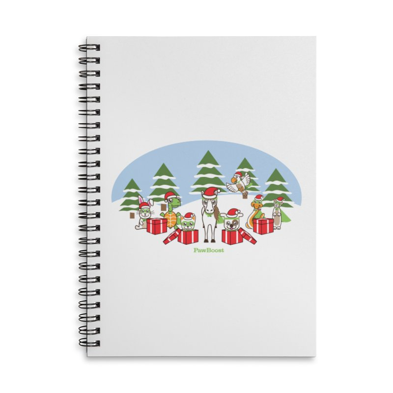 Rescue Squad Presents (winter wonderland) Accessories Lined Spiral Notebook by PawBoost's Shop