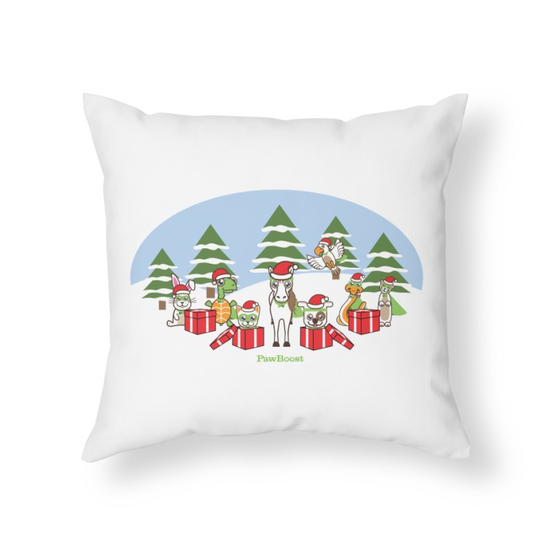 Rescue Squad Presents (winter wonderland) Home Throw Pillow by PawBoost's Shop