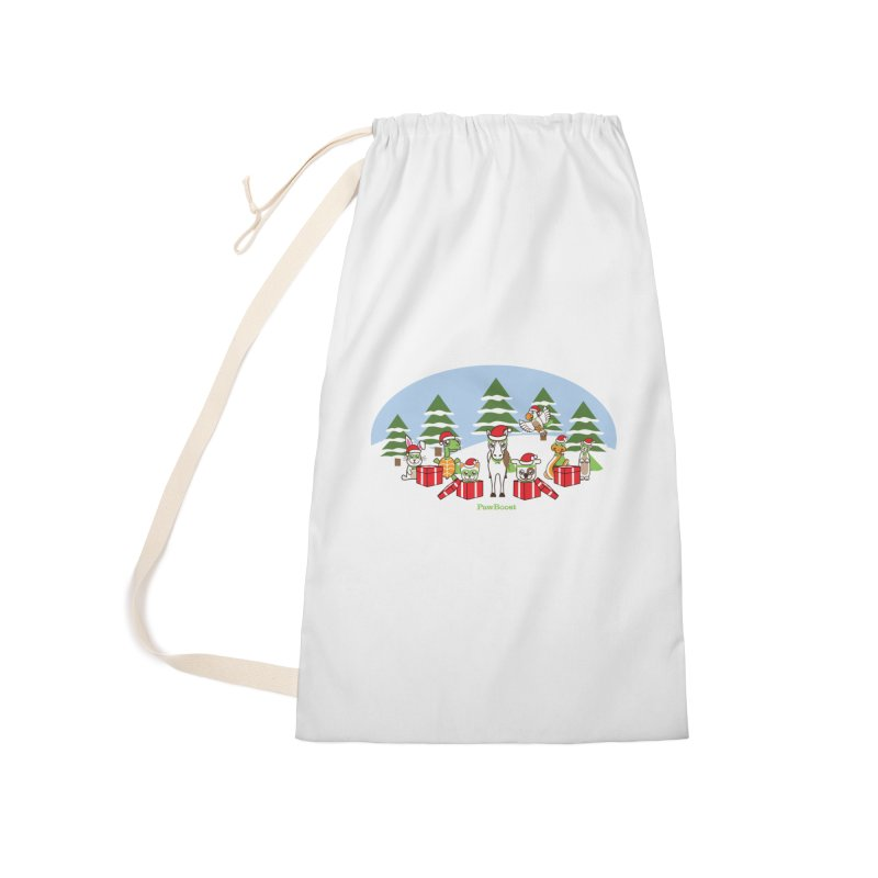 Rescue Squad Presents (winter wonderland) Accessories Laundry Bag Bag by PawBoost's Shop