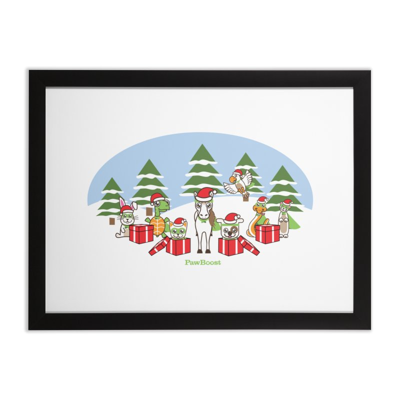 Rescue Squad Presents (winter wonderland) Home Framed Fine Art Print by PawBoost's Shop