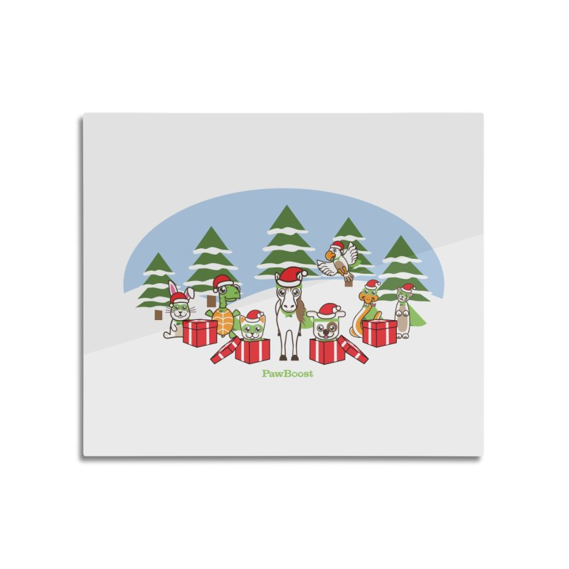 Rescue Squad Presents (winter wonderland) Home Mounted Aluminum Print by PawBoost's Shop