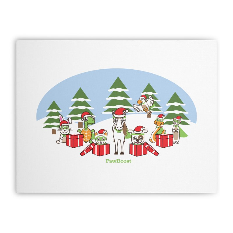 Rescue Squad Presents (winter wonderland) Home Stretched Canvas by PawBoost's Shop
