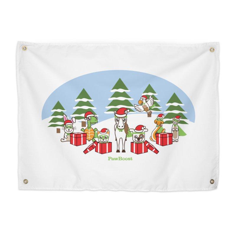 Rescue Squad Presents (winter wonderland) Home Tapestry by PawBoost's Shop