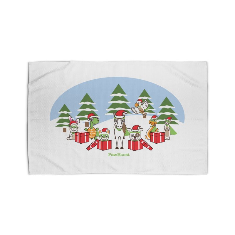 Rescue Squad Presents (winter wonderland) Home Rug by PawBoost's Shop