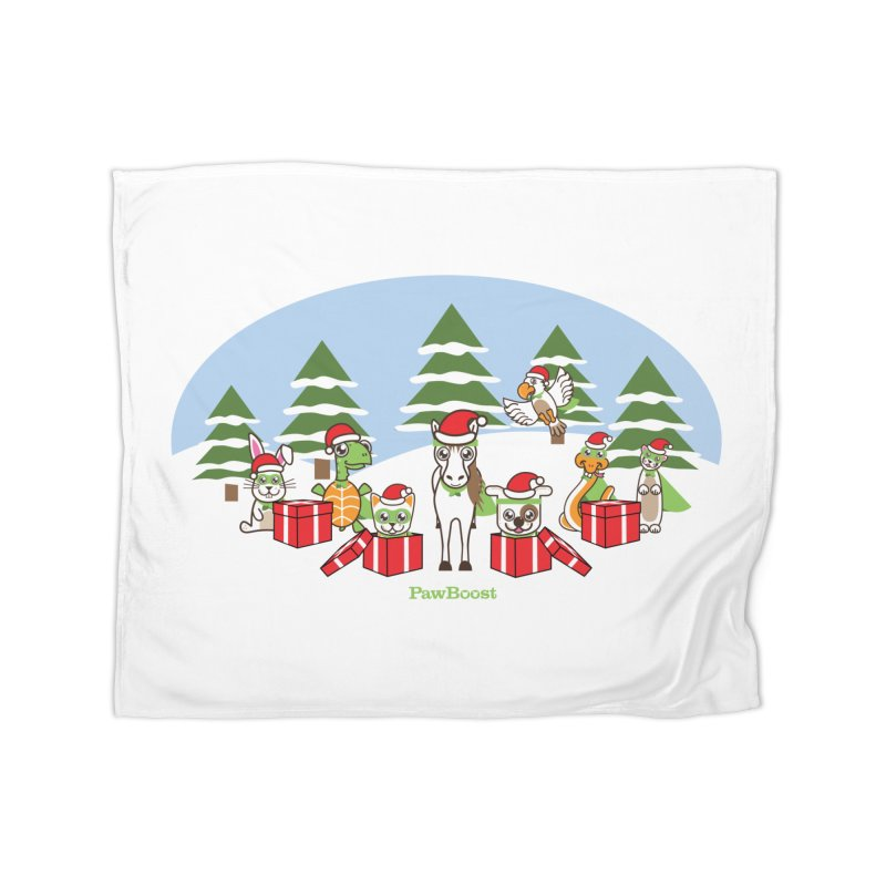 Rescue Squad Presents (winter wonderland) Home Fleece Blanket Blanket by PawBoost's Shop