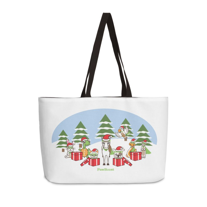 Rescue Squad Presents (winter wonderland) Accessories Weekender Bag Bag by PawBoost's Shop