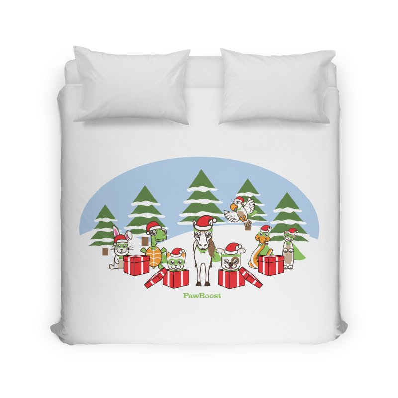 Rescue Squad Presents (winter wonderland) Home Duvet by PawBoost's Shop