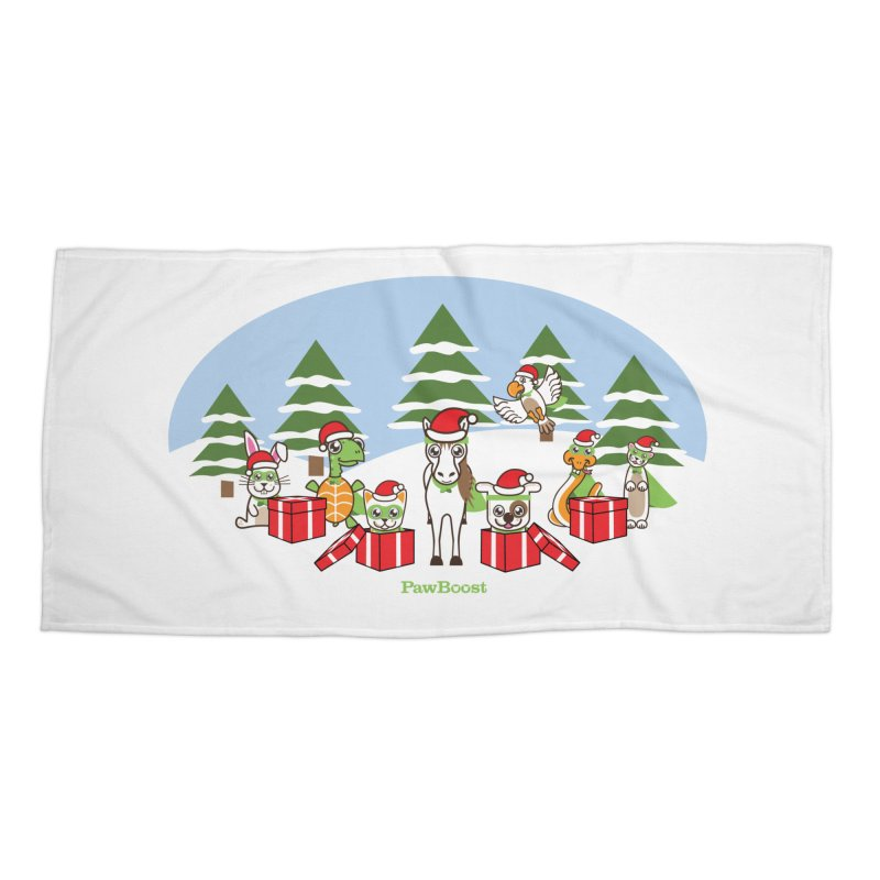 Rescue Squad Presents (winter wonderland) Accessories Beach Towel by PawBoost's Shop